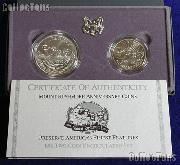 1991 Mount Rushmore Commemorative 2 Coin Uncirculated Set
