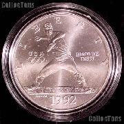 1992-D BU Olympic Baseball Commemorative Silver Dollars