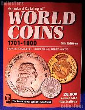 Krause Standard Catalog of World Coins 1701-1800 5th Edition by Cuhaj - Paperback