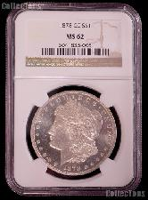 1878-CC Morgan Silver Dollar in NGC MS 62