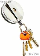 Key Keeper Clip On w/ Retractable Metal Cord