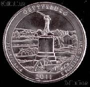 2011-P Pennsylvania Gettysburg National Park Quarter GEM BU America the Beautiful