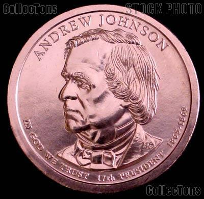 2011-P Andrew Johnson Presidential Dollar GEM BU 2011 Johnson Dollar