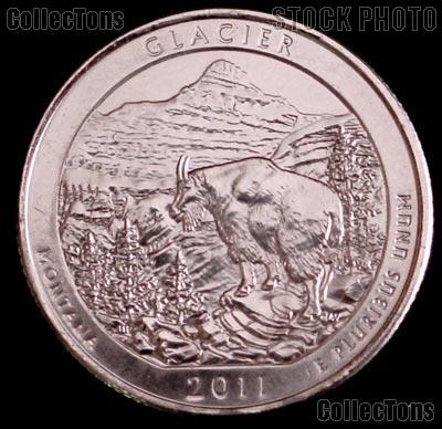 2011-P Montana Glacier National Park Quarter GEM BU America the Beautiful