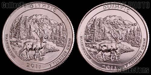 2011 P & D Washington Olympic National Park Quarters GEM BU America the Beautiful