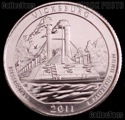 2011-P Mississippi Vicksburg National Park Quarter GEM BU America the Beautiful