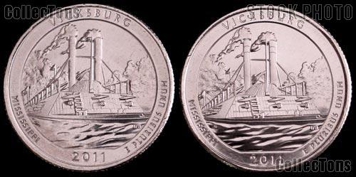 2011 P & D Mississippi Vicksburg National Park Quarters GEM BU America the Beautiful