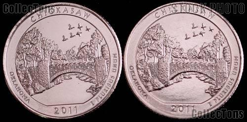 2011 P & D Oklahoma Chickasaw National Park Quarters GEM BU America the Beautiful