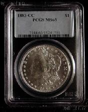 1883-CC Morgan Silver Dollar in PCGS MS 63