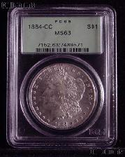 1884-CC Morgan Silver Dollar in PCGS MS 63