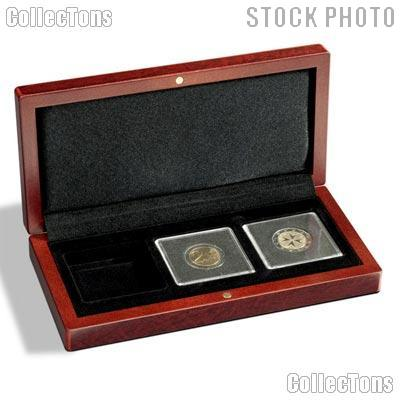 Coin Box Wooden for Three 2x2 Coin Holders QUADRUM by Lighthouse VOLTERRA QUADRUM 3