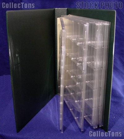 Coin Album Set Lighthouse GRANDE F w/ Green Binder & 2x2 Quadrum Coin Pages