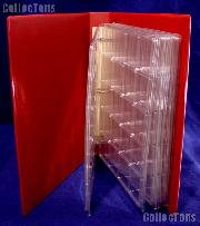 Coin Album Set Lighthouse GRANDE F w/ Red Binder & 2x2 Quadrum Coin Pages