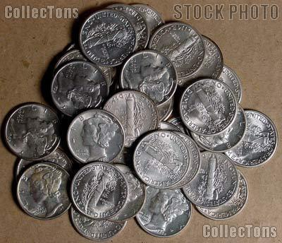 Mercury Silver Dimes - AU+ Condition