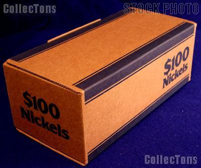 Corrugated Coin Transport Box for Nickel Rolls, pack of 50