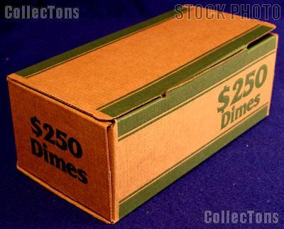 Corrugated Coin Transport Box for Dime Rolls, pack of 50