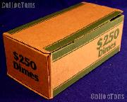 Corrugated Cardboard Coin Transport Box for Dime Rolls