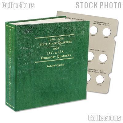 Littleton State, D.C. & US Territory Quarters 1999-2009 P&D Album LCA48T