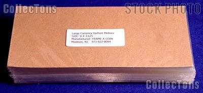 100 Bill Holders Museum Quality Large Currency by Dupont Melinex 8 x 3.625
