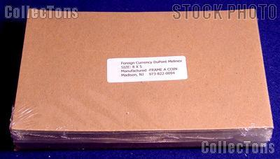 100 Bill Holders Museum Quality Foreign Currency by Dupont Melinex 8 x 5