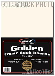 Golden Age Comic Book Backing Boards - Pack of 100 by BCW
