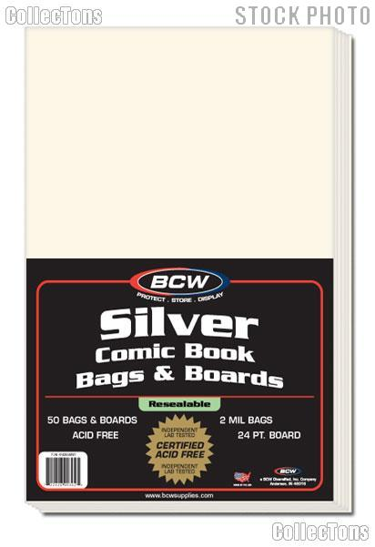 Silver Age Comic Book Bag and Board Set - Pack of 50 by BCW