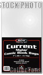 Current Age Comic Book 4 Mil Mylar Bags - Pack of 25 by BCW