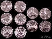 2011 National Park Quarters Complete Set P & D Uncirculated (10 Coins) PA, MT, WA, MS, OK