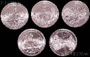 2011 National Park Quarters Complete Set Philadelphia (P) Mint  Uncirculated (5 Coins)PA, MT, WA, MS, OK