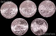 2011 National Park Quarters Complete Set Denver (D) Mint  Uncirculated (5 Coins) PA, MT, WA, MS, OK