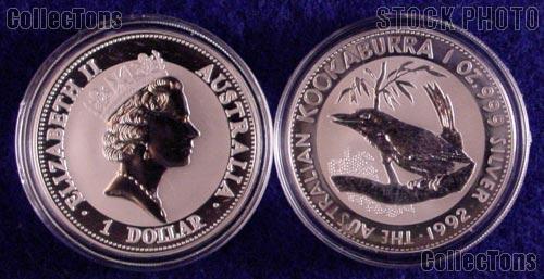 1992 Australian Kookaburra Silver Coin 1oz .999 Pure Silver Bullion Coin