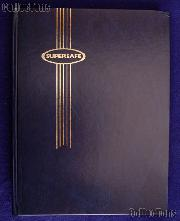Stamp Album Stockbook in Blue by Supersafe (B 4/8) 16 Black Stamp Stock Book Pages