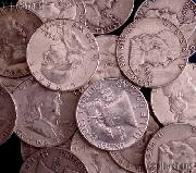 Franklin Silver Half Dollar Rolls - 20 Coins $10 Face