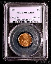 1937 Lincoln Wheat Cent in PCGS MS 66 RD (Red)