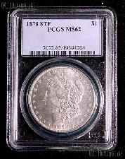 1878 8TF Morgan Silver Dollar in PCGS MS 62 (Eight 8 Tail Feathers)