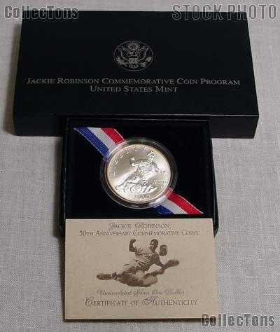 1997-S Jackie Robinson 50th Anniversary Commemorative BU Silver Dollar