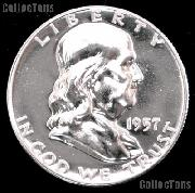1957 Franklin Silver Half Dollar GEM PROOF 1957 Franklin Half Dollar