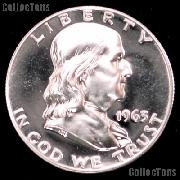 1963 Franklin Silver Half Dollar GEM PROOF 1963 Franklin Half Dollar