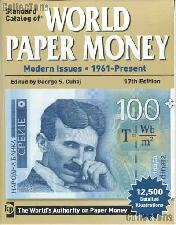 Krause Standard Catalog of World Paper Money Modern Issues 1961-Present 17th Edition by Cujah - Paperback