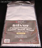 Silver Age Comic Book Thick Bags Polypropylene - Pack of 100 by BCW