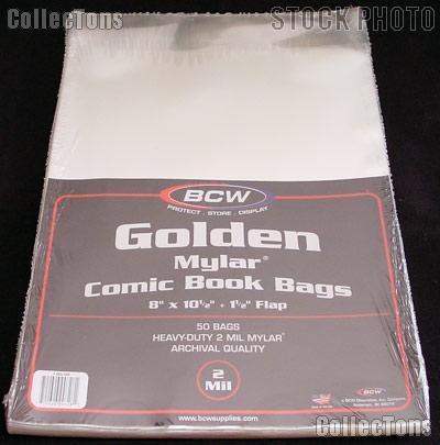 Golden Age Comic Book 2 Mil Mylar Bags - Pack of 50 by BCW