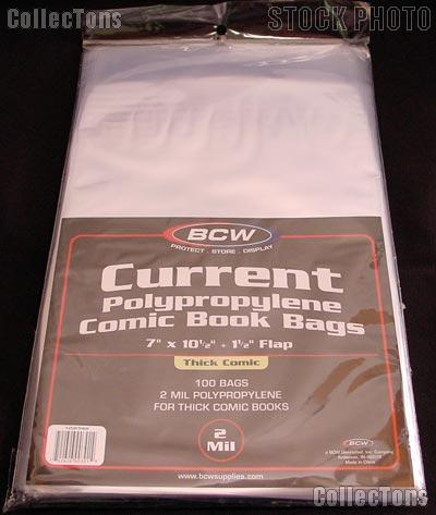 Current Age Comic Book Thick Bags Polypropylene - Pack of 100 by BCW