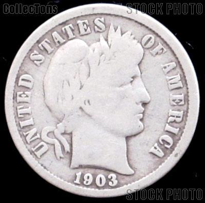 1903-S Barber Dime G-4 or Better Liberty Head Dime