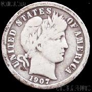 1907 Barber Dime G-4 or Better Liberty Head Dime
