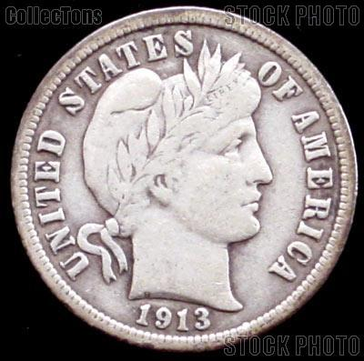 1913-S Barber Dime G-4 or Better Liberty Head Dime