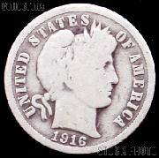 1916 Barber Dime G-4 or Better Liberty Head Dime