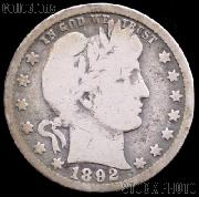 1892-O Barber Quarter G-4 or Better Liberty Head Quarter