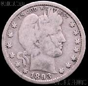 1893-O Barber Quarter G-4 or Better Liberty Head Quarter