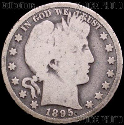 1895 Barber Half Dollar G-4 or Better Liberty Head Half Dollar