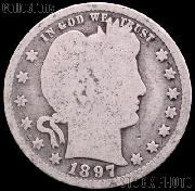 1897-S Barber Quarter G-4 or Better Liberty Head Quarter